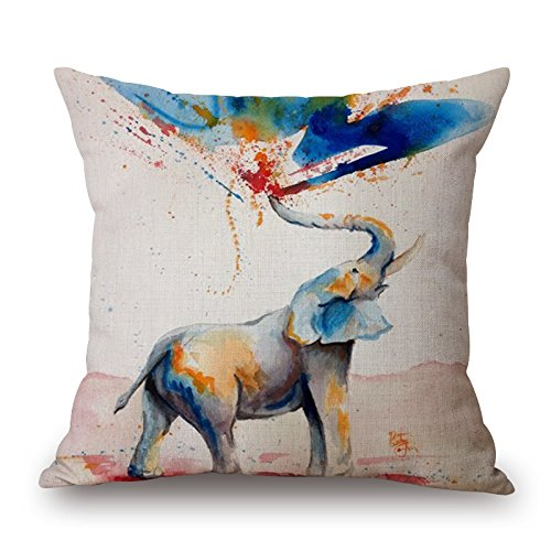[Artistdecor Throw Pillow Case Of Elephant,for Chair,deck Chair,her,teens Boys,birthday,girls 20 X 20 Inches / 50 By 50 Cm(twice] (Bull Rider Costume Toddler)