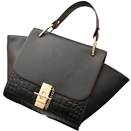 2016 New Design High Quality And Beautiful Lady Bag Tote Bag Top Handles Bag (black)