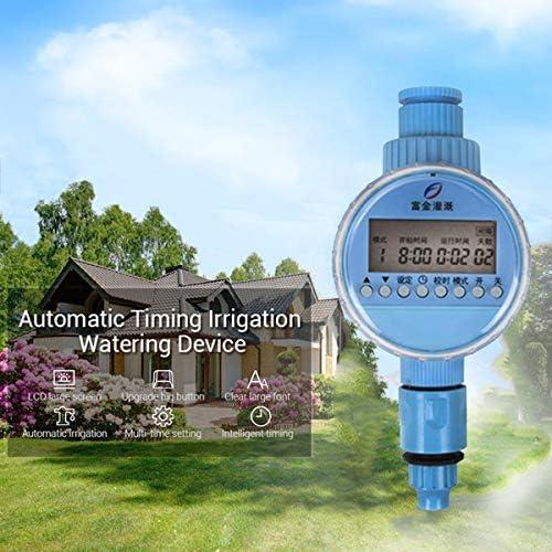 AYUSHOP Bewässerungsuhr Wasser Timer Elektronischer, Digitaler Wassertimer mit LCD-Display, Digital-Bewässerungs-Timer Automatische Irrigate für Gartengewächshaus Pflanze Gras, Balkon
