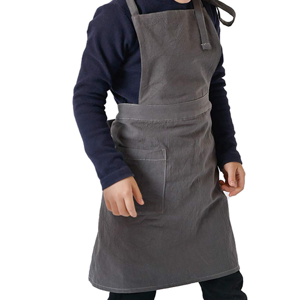 HANSHI Utility Children's Apron, Kids Waterproof Aprons Bid -Workshop Tool Apron For Kitchen, Classroom,Crafts, Art Painting, Pottery, DIY Activity (S) HSW-114-S
