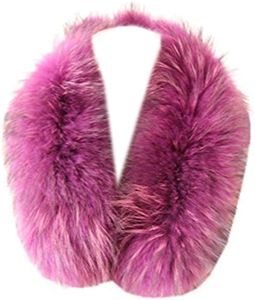 Gegefur Womens Real raccoon Fox Fur Winter Collar Scarf