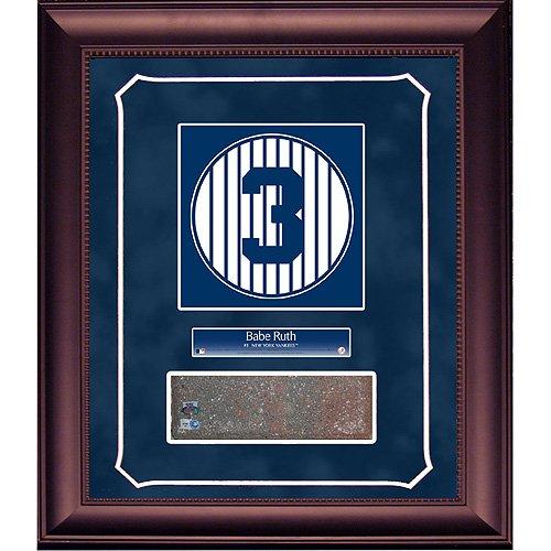 Steiner Sports MLB New York Yankees Babe Ruth Retired Number Monument Park Brick Slice 14x18 Framed Collage with (Monument Park Brick)