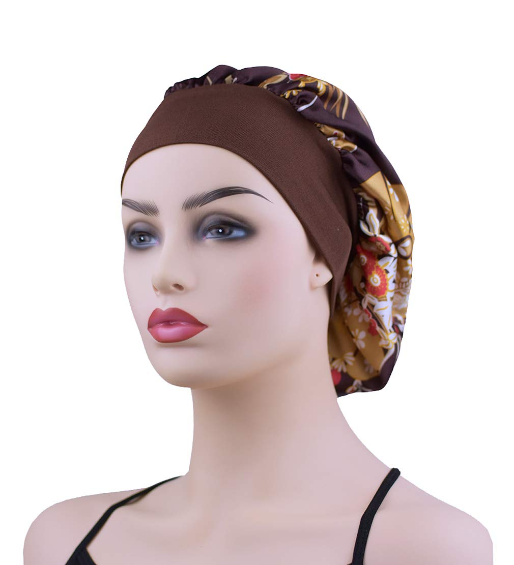73277323081 Amazon.com  Large Satin Sleep Bonnet Cap for Women