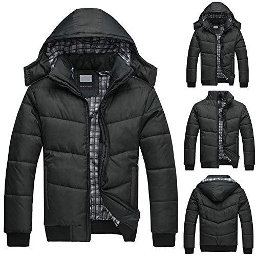 - 2019 Latest Hot Style! Teresamoon Men's Black Puffer Jacket Warm Overcoat Outwear Padded Hooded Down Winter Coat