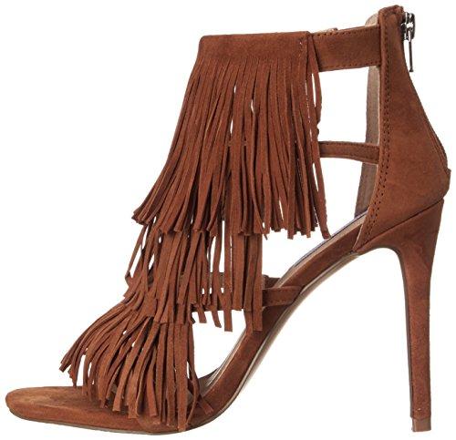 Marron Women's Madden Chestnut Fringly Steve Dress Sandal H1Sxq