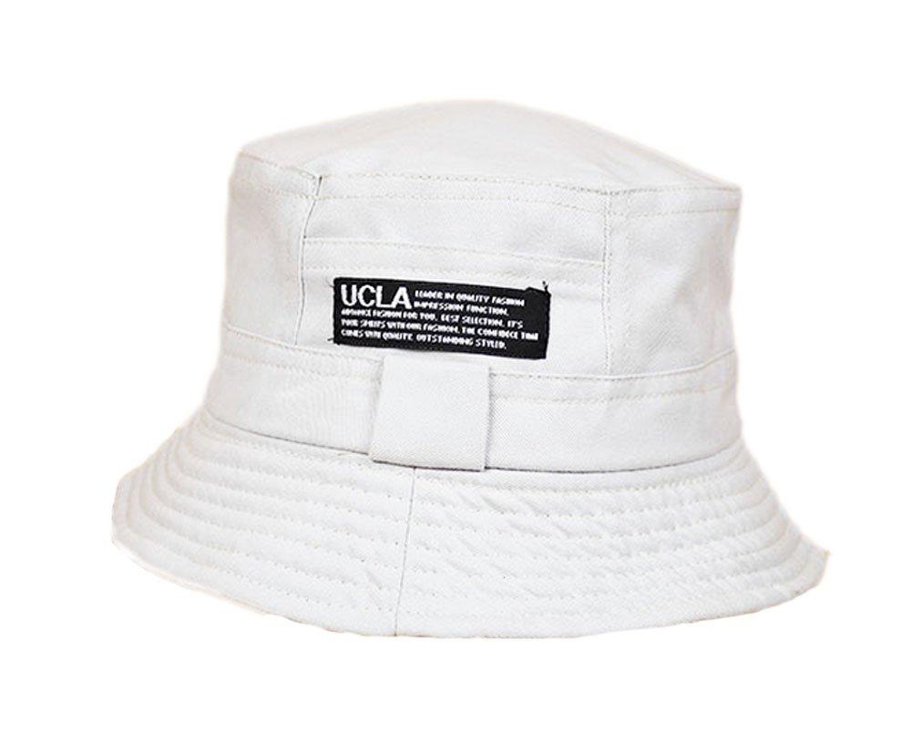 55b568e4e3b27 Amazon.com   PANDA SUPERSTORE Solid Fishing Hat Foldable Bucket Hat  Women-Beige   Sports   Outdoors