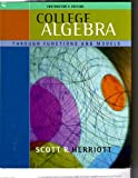 img - for College Algebra Through Functions and Models (Instructor's Edition w/ sealed CD) book / textbook / text book