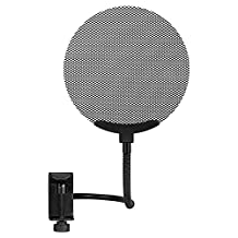 BC Master PF13F(Size:13.5cm/0.44Ft) Metal Stand Clip Pop Filter for Blue Yeti Snowball ,Studio Microphone Recording Pure Sound Durable Material Double Iron Grille