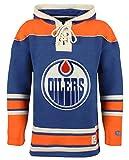 vintage hockey - NHL Edmonton Oilers Men's Lacer Heavyweight Hoodie, X-Large, Dark Royal