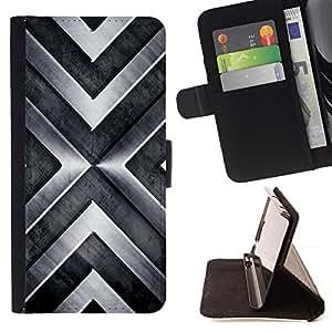 For LG G3 Case , Chevron metal pulido brillante- la tarjeta de Crédito Slots PU Funda de cuero Monedero caso cubierta de piel