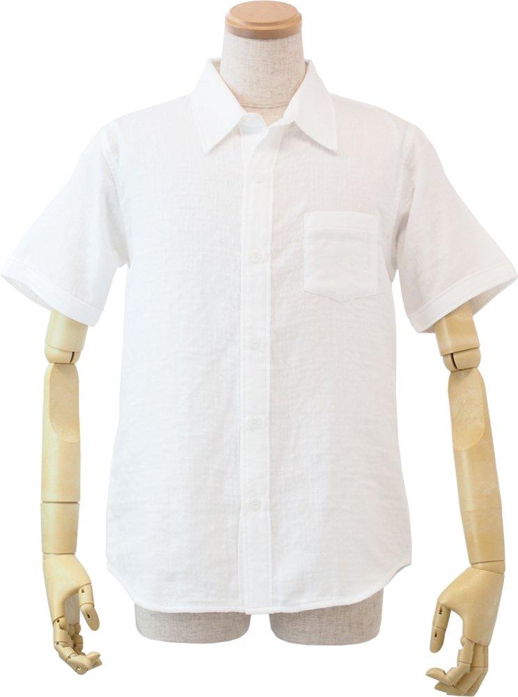 (内野)UCHINO (ウチノ) マシュマロガーゼ メンズ 半袖 シャツ ルームウェア B06XSF4DH4 LA|ホワイト ホワイト LA