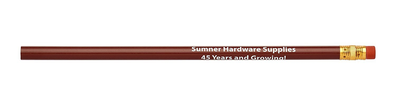 Pencil Guy Promotional Personalized Imprinted Round Pencils.-1000 per Box Burgundy