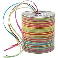 Prasent - Cinta de Rafia (50 m), Multicolor