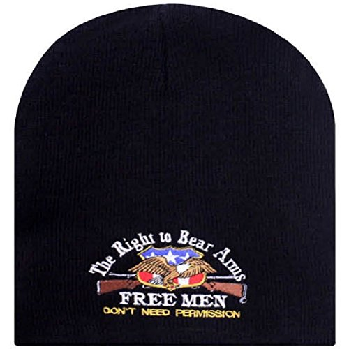 Right To Bear Arms Free Men 2Nd Amendment Eagle Rifle Beanie Stocking Cap Hat by ZIZI SPORTS SUPPLY