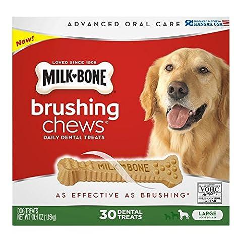 Milk-Bone Brushing Chews Daily Dental Treats, Large (30 ct.) 40.4 oz (1.15kg)