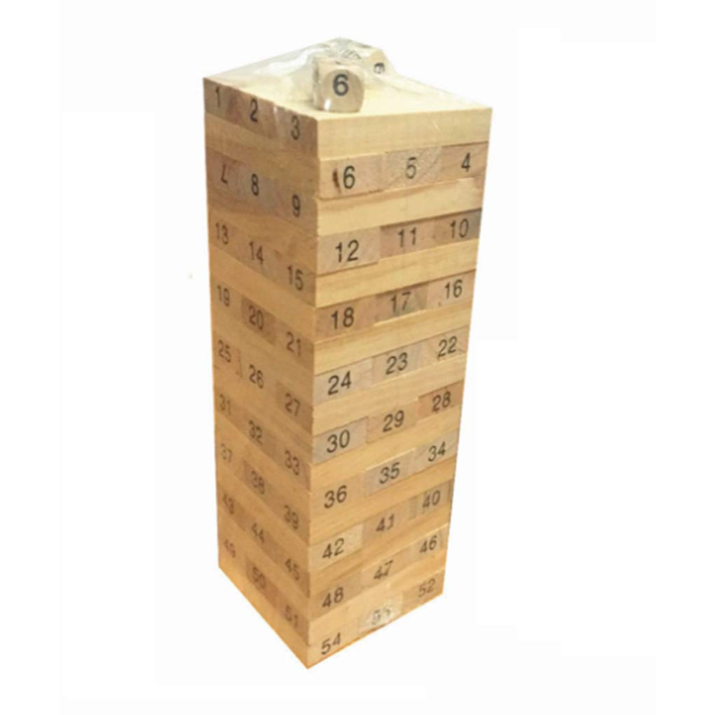 Aiming 48pcs / Conjunto de columnas de Madera Building Blocks Juego Educación niños Número de Juguete Ladrillos DIY Juega bebé Bloques de Madera de Juguete de Regalo