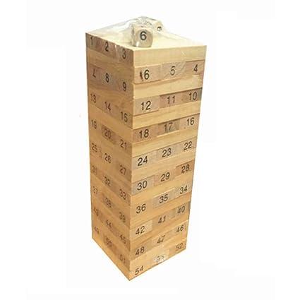 Amazon Topker 40PCSSet Wooden Column Building Blocks Game Cool Wooden Bricks Game