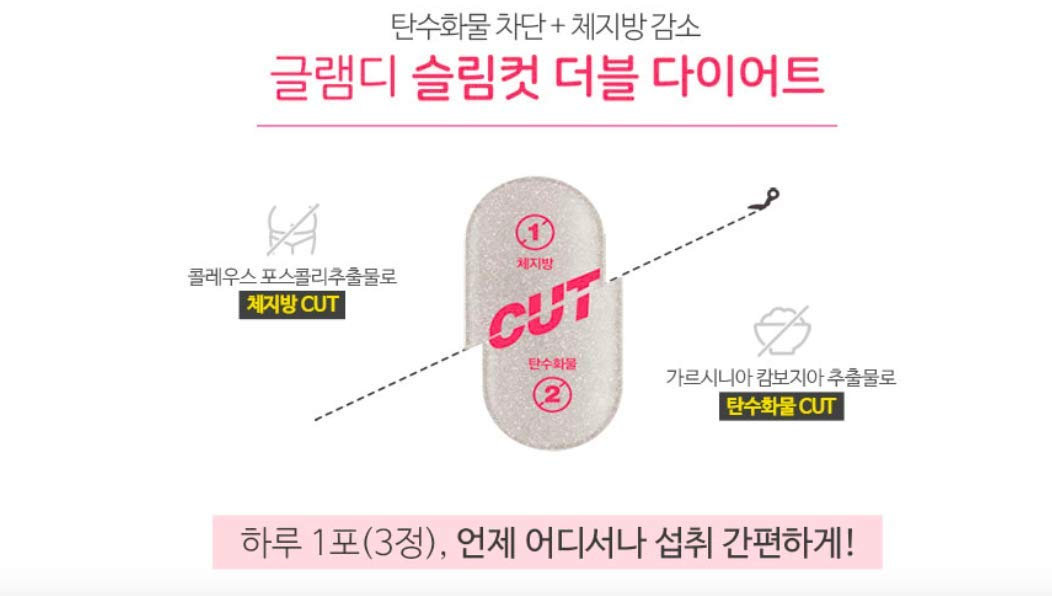 GLAM.D Slim Cut Double Diet 700mg X 45capsule (31.5g)/Import from Korea/for Weight Loss and Healthy Diet by GLAM.D (Image #4)