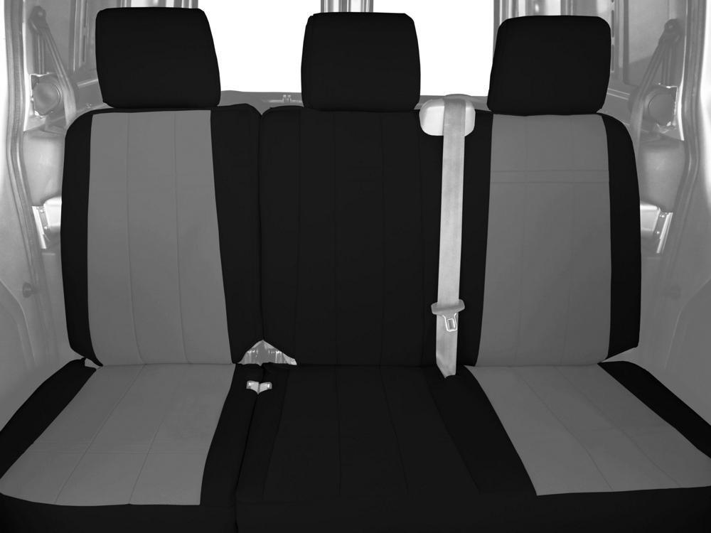 caltrend背面60 / 40分割ベンチカスタムフィットシートカバーforトヨタタンドラモデル – ネオプレン(ライトグレー/ブラック) B0134SWJL2  - -