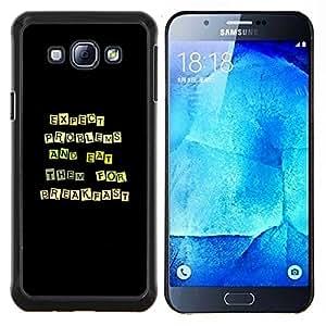Stuss Case / Funda Carcasa protectora - Divertido Excepto Los problemas y los comen - Samsung Galaxy A8 A8000