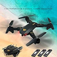 Drone with Camera,Aritone RC Quadcopter Foldable Selfie Drone 2MP with 3 Battery 720P Camera