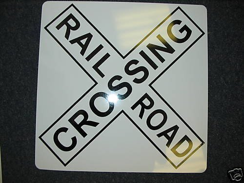RAILROAD CROSSING X Metal SIGN 4 Man Cave Prop Ice House Bar Hwy Highway Train station Signal (Crossing Highway Sign Posters)