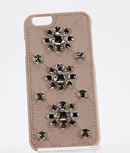 Michael Kors Womens Saffanio Embellished Cell Phone Case Pink - Returns Michael Kors