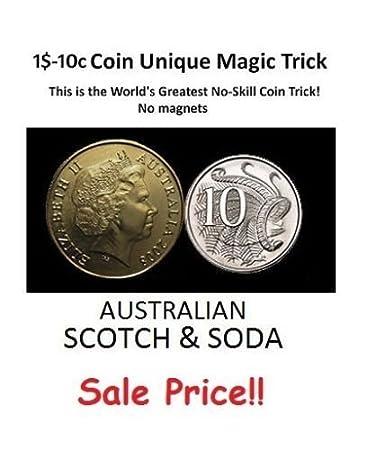 1 10c Australische Dollar Münze Einzigartige Zaubertrick