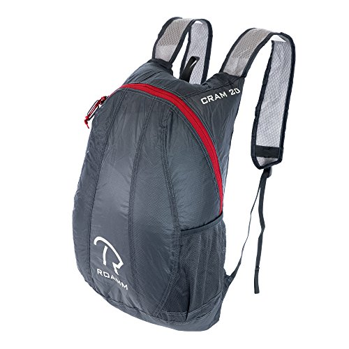 Integrated Carbon Fork - Roamm Cram 20 Ultralight Packable Backpack + Lightweight 3.5oz Bag Perfect for Camping, Hiking, Backpacking, and Outdoors for Men or Women