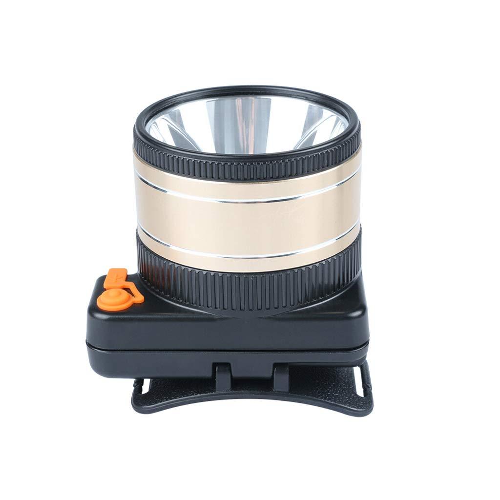 GLJJQMY LED-Scheinwerfer, Kann 9000w Hochleistungsblendungtauchen Sein, Die DREI Lange Lithiumscheinwerferbatteriebergmann Im Freien Führt Taschenlampe (Farbe : Weißes Licht, größe : 7.5cm)