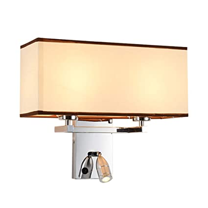 Amazon.com: Lámpara de pared con luz LED para dormitorio ...