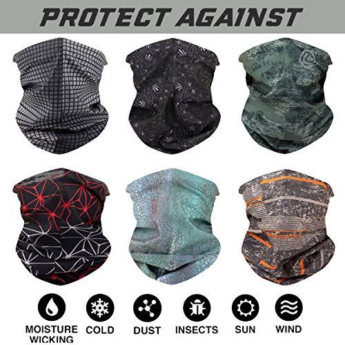 00408bba15569 Toes Home 6PCS Outdoor Magic Headband Elastic Seamless Bandana Scarf UV  Resistence Sport Headwear Boho Series for Yoga Hiking Riding Motorcycling