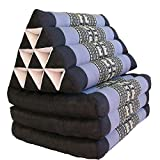 MCK Thai Triangle Pillow BLUE Fold Out Mattress Cushion Jumbo Size Day Bed THREE FOLDS 2167.514 inch