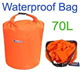 Constructan(TM) 70L Outdoor Waterproof Dry Bag for Canoe Kayak Rafting Camping Size L