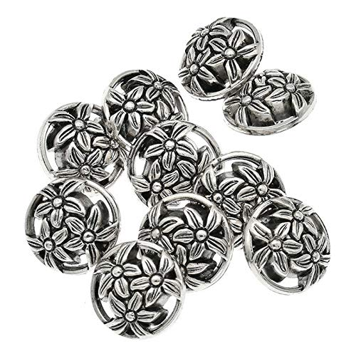 MOPOLIS 12 Pcs Plastic Sewing Buttons Craft Scrapbooking DIY Clothing Accessories Round | Size - 18mm