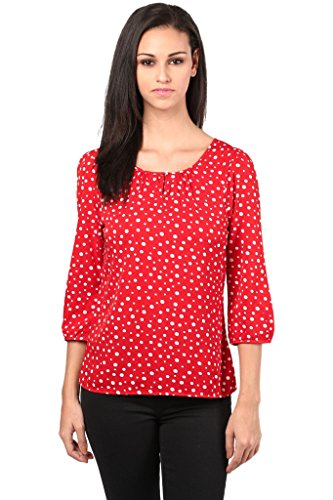 Poly Crepe Top In Red Color