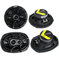 2) Kicker 41DSC654 6.5 240W 2-Way + 2) 41DSC6934 6x9 360W 3-Way Car Speakers
