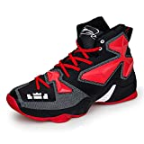 No.66 TOWN Men's Shock Absorption Running Shoes Sneaker,Basketball Shoes Size 10 Black Red