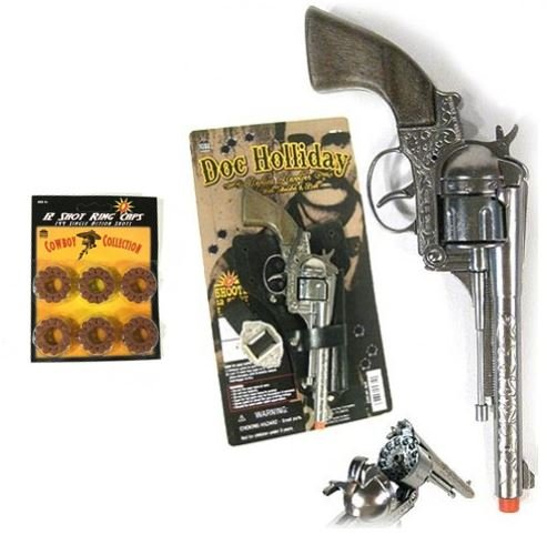 [Doc Holliday Holster Set by Parris Plus 144 shots] (Doc Holliday Halloween Costume)