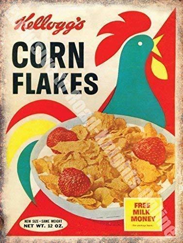 Kelloggs Copos De Maíz Cereales Cocina Vintage Anuncio ...