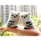 2pcs Little OWL Sitting Harry potter's Owl Learning Resources Miniature Plush Stuffed Animal Toy