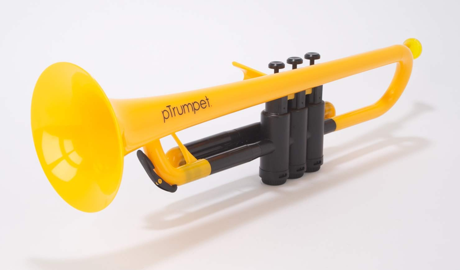 pBone Jiggs pTrumpet Plastic Trumpet w/Gig Bag and 3C and 5C Mouthpieces, Yellow, PTRUMPET1Y) by pBone (Image #2)