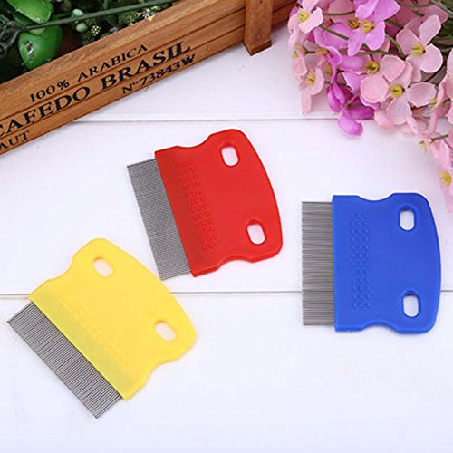 Panda Superstore 2Pcs Random Color, For Cats/Dogs Useful Pet Flea Combs/Grooming Comb by Panda Superstore (Image #1)
