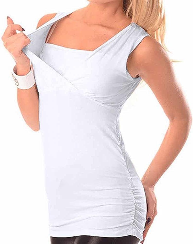FRAUIT Premaman Abbigliamento Estivo Senza Maniche Allattamento al Seno Vestiti per Donna Incinta A Gestante A maternit/à Camicia da Notte Allattamento Vestaglia Pigiami