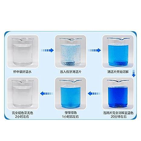 attachmenttou 24pcs efervescentes Superdent Dentadura Limpieza Tabletas Anti Bacteria placa: Amazon.es: Salud y cuidado personal