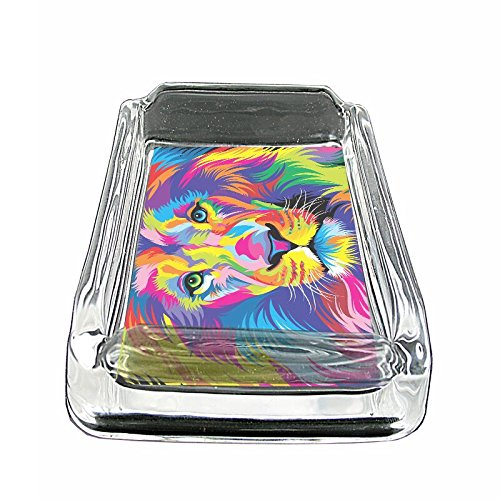 Coin Glass Ashtray - Colorful Animal Lion Em1 Glass Ashtray Smoking/Coin Holder 4
