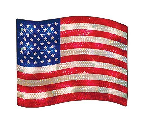 (LIGHTED USA FLAG INDOOR/OUTDOOR DECORATION)