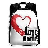 Kids School Bag Double Shoulder Print Backpacks Love Of The Game Travel Gear Daypack Gift