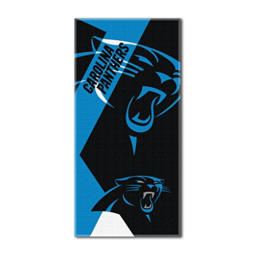- The Northwest Company Officially Licensed NFL Carolina Panthers Puzzle Beach Towel, 34
