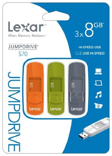 Lexar JumpDrive S70 8GB USB Flash Drive LJDS70-8GBASBNA003